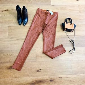 New H&M faux leather leggings pants
